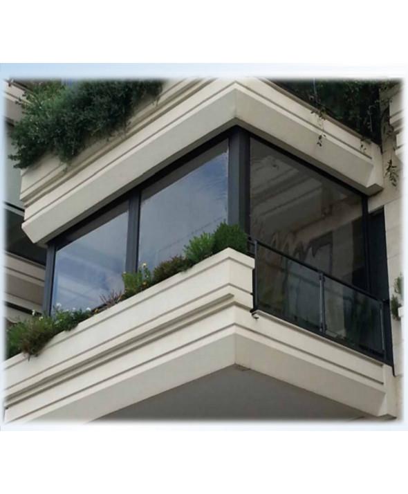 Tenda Ermetica Zip con molle di Trazione Automatica  In Cristal Trasparente per chiusure pergolati gazebi balconi