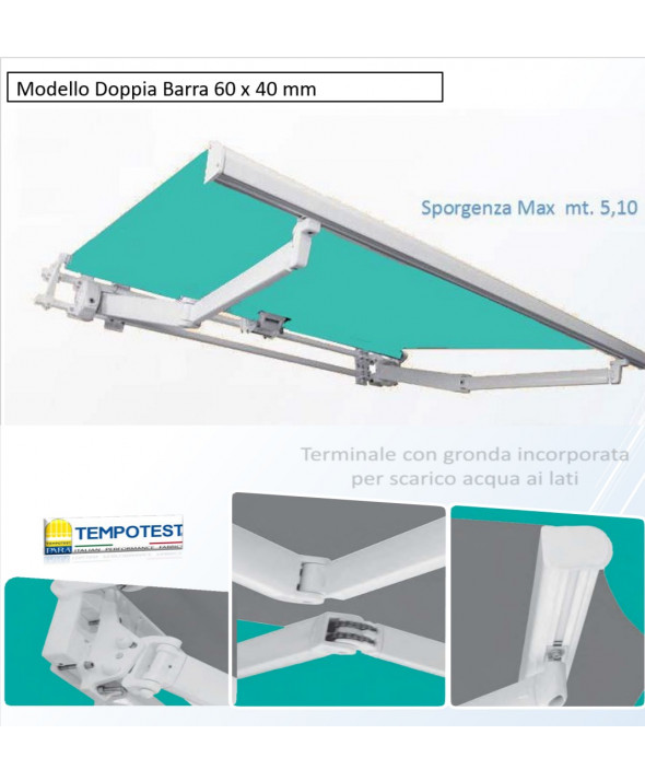 Serie:  Doppia barra 60x40 mm