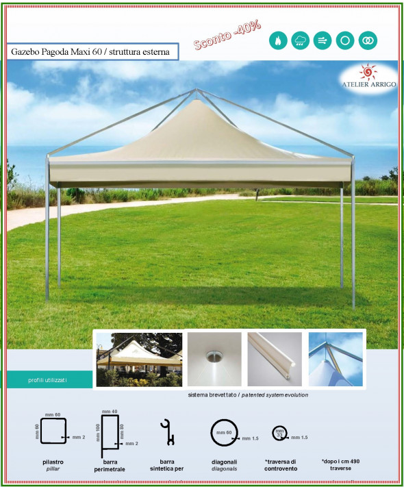 "Gazebo  Professionale "" Pagoda Evolution """